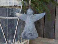 Chic Antique Dekoengel Zink Christbaumhänger H 18cm Weihnachten Advent Nostalgie