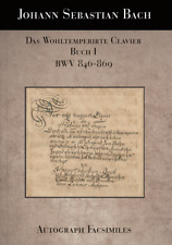 THE WELL-TEMPERED CLAVIER, BOOK I, BWV 846-869 (FACSIMILES) - J.S. BACH