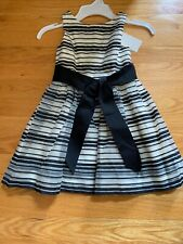 Polo Ralph Lauren Girl's Chiffon Stripped Sleeveless Dressy Party Dress Sz 4