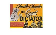 GREAT DICTATOR (Charlie Chaplin) STYLE B 27x40 MOVIE POSTER