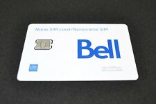 Bell SIM Card Nano-SIM LTE Prepaid for iPhone, Samsung, LG & Blackberry