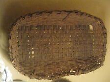 Primitive Split Oak Rectangle Farm Basket -made in Van Buren County, Ar 1900s