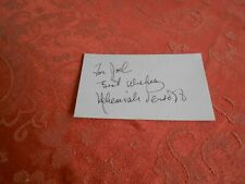 NEHEMIAH PERSOFF AUTOGRAPHED INDEX CARD