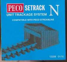 Peco ST-8 N Gauge Setrack Buffer Stops Sleeper Type (pack of 2) New