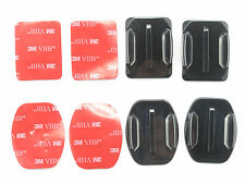 2pcs Flat + 2pcs Curved Surface Adhesive Mounts for Gopro Hero 3+, 3, 2, 1