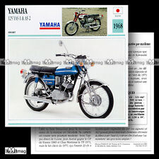 #065.17 YAMAHA 125 YAS 1 & AS 2 1968 / 1971 Fiche Moto Motorcycle Card
