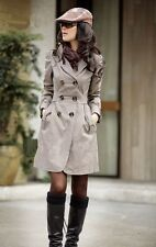 X FASHION Korean Khaki Leisure Coat Double-breasted Jacket