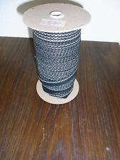(0,25€/m) schwarz mit hell gold Band/Borte 1,5cm breit 100m auf einer Rolle