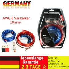 AWG 8 Verstärker 10mm² Endstufen-Subwoofer-Set Kabel Kit PKW Car-Hifi Chinch 5M#