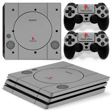 PS4 Pro Skin Sticker Kit PLAYSTATION 1 PS1 Retro Style Removable Vinyl new