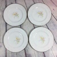 "4 Noritake Ireland Anticipation China 2963 Salad Plates - 8.25"" / Floral Flower"