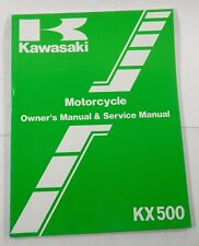 Kawasaki KX 500 1985 Motorcycle Service Manual NEW