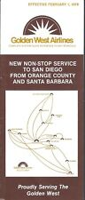 Airline Timetable - Golden West - 01/02/79 - Shorts 330 image
