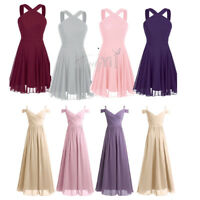 Womens Formal Wedding Bridesmaid Short Evening Party Prom Gowns Cocktail Dress