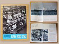 Orig. Webreprospekt Rheinmetall-Borsig AG Dieselmotoren um 1958 Borsig-Fiat xz