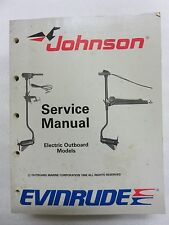 1989 Johnson Evinrude Service Repair Manual 507752 Outboard Electric Troller