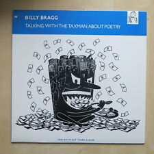 BILLY BRAGG Talking To The Taxman About Poetry USA promo LP with inner Elektra