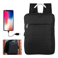 Sac de voyage pour ordinateur portable USB avec chargeur et sac à dos pour homme