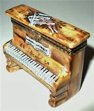 LIMOGES BOX - UPRIGHT PIANO - BALLERINA & BALLET SLIPPERS - MUSICAL INSTRUMENTS