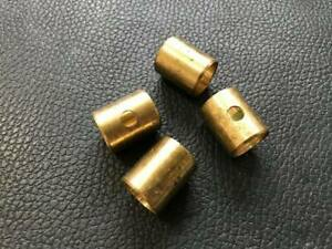 New Set of 4 Singer Chamois (Hillman Imp) Brass Kingpin Bushes (Ream To Fit)