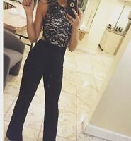 Guess By Marciano Black Lace Jumpsuit Size 2