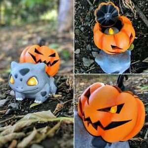 Bulbasaur LED Pumpkin Halloween Ornaments Garden Outdoor Home Decor Statue Resin