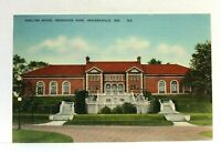 Indianapolis Indiana Brookside Park Shelter House Linen Vintage Postcard