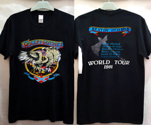 Vtg 80s 1981 Molly Hatchet Beatin' The Odds Tour new gildan usa size| popular|}