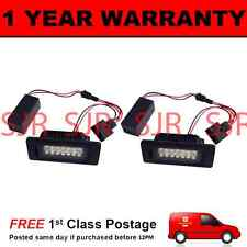 2X FOR PORSCHE PANAMERA 2010- ALUMINIUM UPGRADE 18 WHITE LED NUMBER PLATE LAMPS