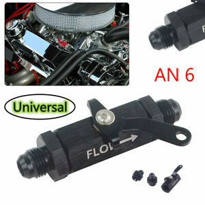 6AN Shut Off Valve Fuel Tank Handle Cut Off w/ Cable Lever Safety Roll Black