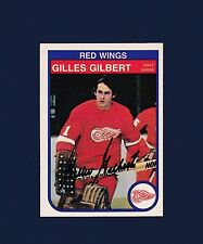 Gilles Gilbert signed Detroit  Red Wings 1982 Opee Chee hockey card