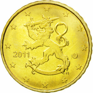 [#584184] Finlande, 10 Euro Cent, 2011, SPL, Laiton, KM:126