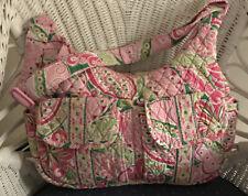 Vera Bradley PINWHEEL PINK Large Hobo Tote Bag Crossbody Shoulder Travel