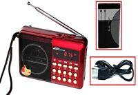 Küchenradio Lautsprecher Akku Mini Box Musikbox FM Radio MP3 Player USB SD Aux 2