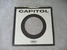 sleeve only CAPITOL BLACK WHITE CIRCLE   45 record company sleeve only