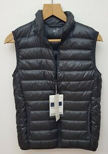 Uniqlo Black Down Filled Lightweight Gilet. Size XS. New with tags!
