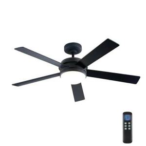 """HDC Audrino 52"""" Integrated LED Indoor Oil Rubbed Bronze DC Ceiling Fan Light Kit"""