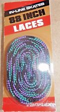 "VTG New Variflex 88"" Inline Skate & Shoe Laces Neon Purple Black & Teal"