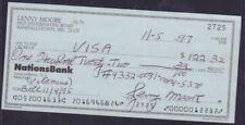 Lenny Moore Signed Check w/COA 122717DBT