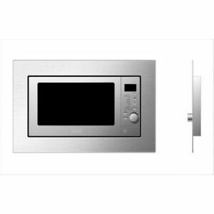 Einbau Mikrowelle Edelstahl 800 Watt mit Grill 1000 Watt integriert mit Blende