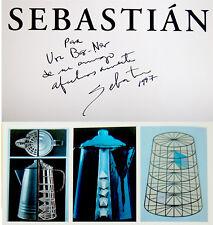 HAND SIGNED Sculptor SEBASTIAN ART BOOK Mexico SCULPTURES Spanish URBAN DESIGN