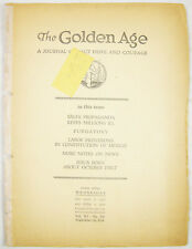 Golden Age Magazine #392 Sept 26 1934 PHONOGRAPH PURGATORY Watchtower Jehovah