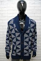 Tommy Hilfiger Uomo Big Size 3XL Maglione Felpa Sweater Cardigan Pullover Cotone