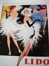 """Vintage """"Lido Champs-Elysees - Paris"""" Program w/ Risque Pictures *"""