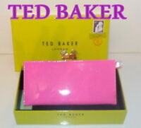 "FAB! ""Ted Baker"" Women's Bright Pink Patent  TRONTO  CRYSTAL  Purse £90 NEW"