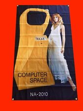 LARGE Computer Space Arcade Video Game Banner Flag Poster