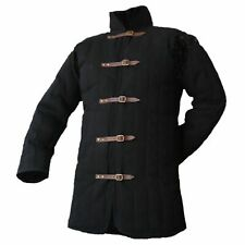 Black L Size Gambeson Type IV Medieval Padded Armour Coat SCA LARP Arming Jacket