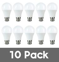 10 pack 8W LED BC B22 GLS Light Bulb Warm White Lighting Dimmable 3000k