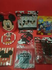 Disney Mickey Mouse Party Supplies Classic *8pc*Banner*Plates*Napkins*Favors*