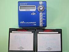 Sony Net Md Walkman Mz-N707 Type-R Mdlp Portable Minidisc Recorder Works